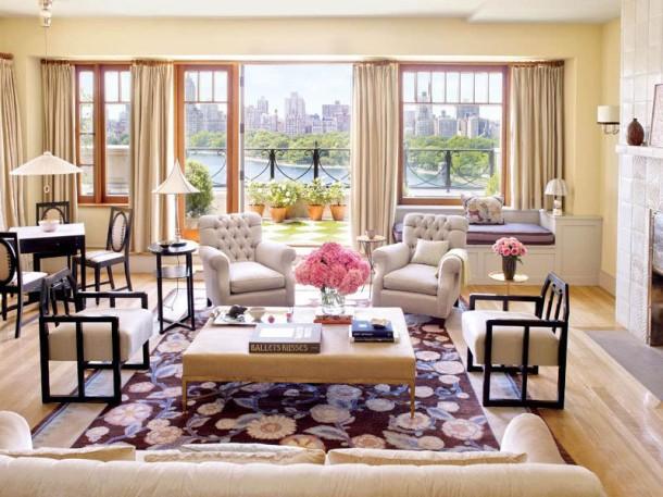 Bette Midler Manhattan Penthouse Living Room