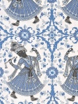 Christopher Farr Fabric - Dancers - Indigo