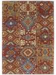 Ethnic Patchwork Are Rug Red Blue Multicolored Karastan English Manor Telford 02120-00552