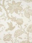 Schumacher Floral Fabric Bali Vine - Sandstone 174372