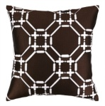 Ring Brown Trellis Geometric Brown Throw Decorative Pillow 24CZ12FC20SQ