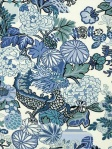 Schumacher Wallpaper Chiang Mai Dragon China Blue 5001062