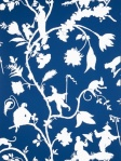 Stroheim Asian Wallpaper Cathay Pastoral Blue White 6023301