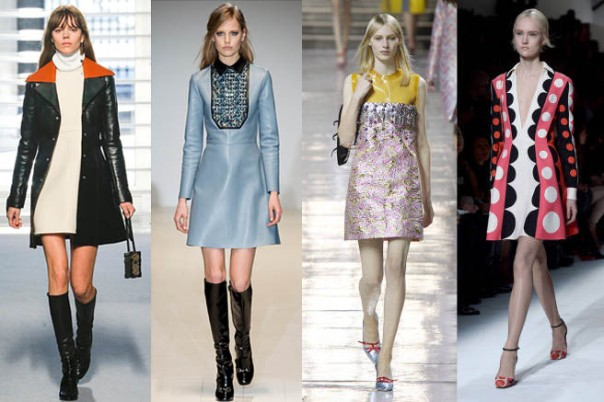 60s Inspired Fashion Trend Fall 2014 Runway