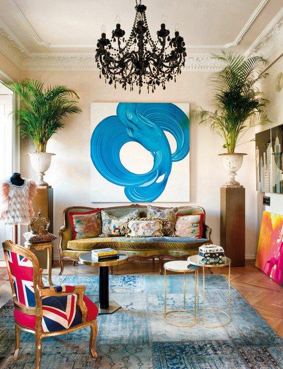 Bohemian Chic Interior Decor Living Room