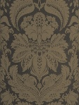 STroheim Damask Wallpaper WETHERS NONWOVEN - Charcoal 6151002