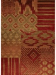 Red Patchwork Ethnic Area Rug Interior decor Karastan 74700-13122