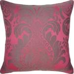 pink black throw pillow Anna Damask-150-T