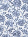 Blue Floral Fabric Stout BATIK 2 PACIFIC Stout BATI-2
