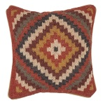 Gobi Red and Natural Throw Decorative Pillow Diamond Ethnic Jaipur BD07