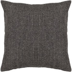 Grey Wool Pillow Chandra CUS-28007_Flat