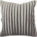 Grey Stripe Textured Wool Throw Pillow Chandra CUS-28009_Flat