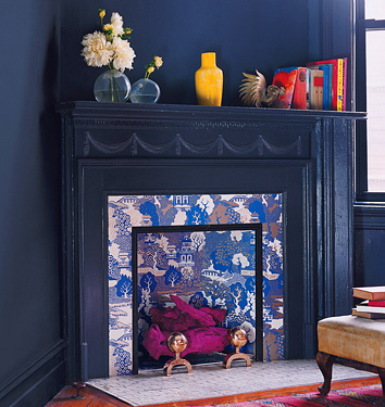 bold non working fireplace decorating idea for fall