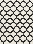 Black White Trellis Area Rug Surya ft546-58