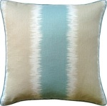 Ryan Studio Throw Pillow Stripe Tan Blue Green Ikat Gere-1082-T