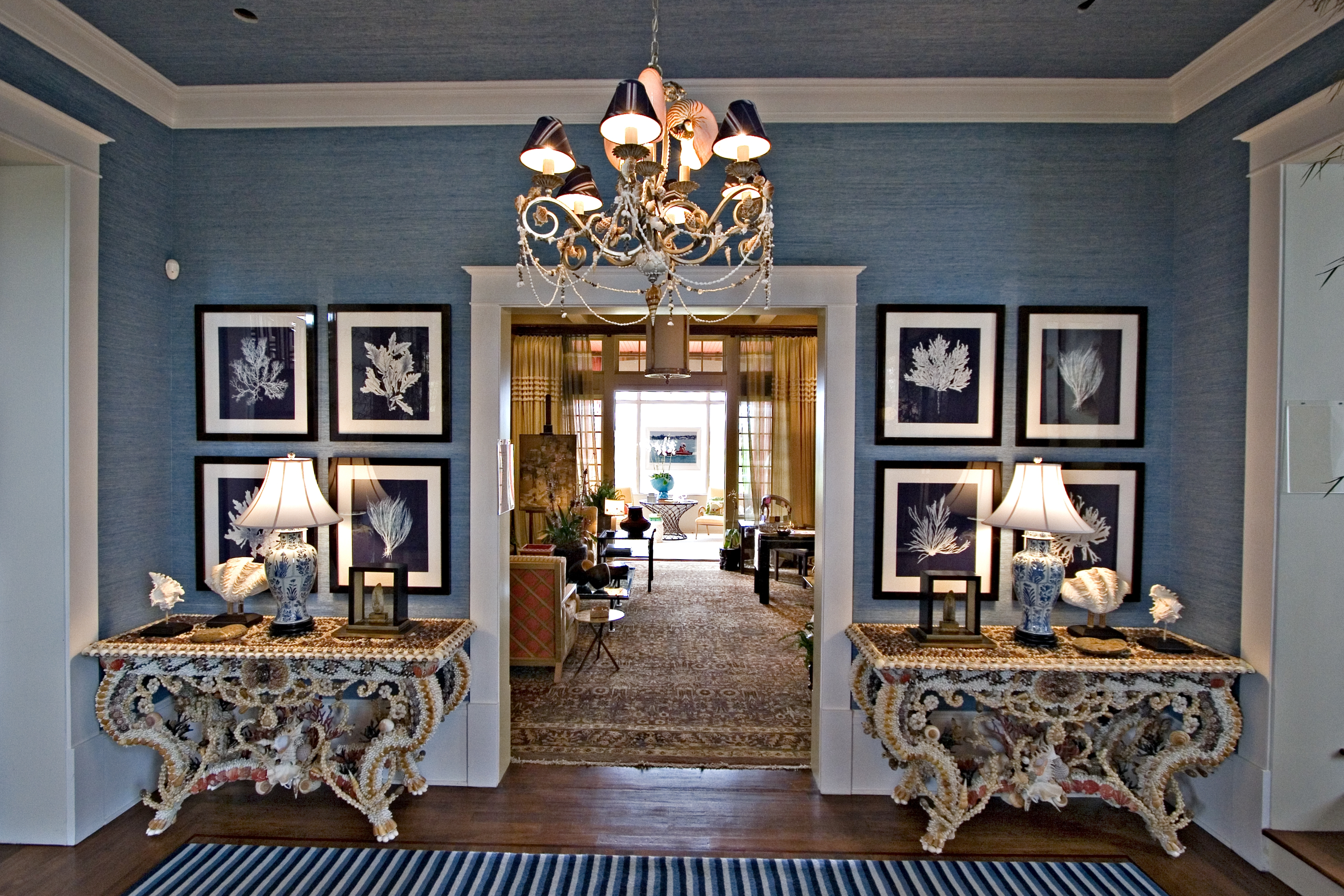 Hamptons Showhouse Foyer Interior Decor By Barclay Butera Designer