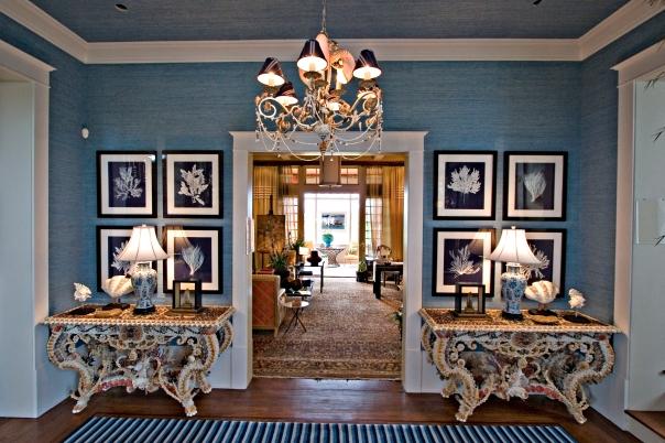 Hamptons Showhouse Foyer Interior Decor by Barclay Butera Designer