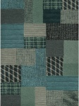 blue patchwork rug hdn9004-58