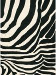 Zebra Print Stripe Rug Black White Contemporary Area Rug Chandra JAN-2645_Flat