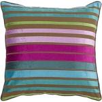 Bright Stripe Pillow pink aqua lime throw pillow Surya js019