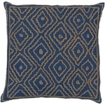blue diamond embroidered ethnic pillow ld025