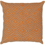 orange throw pillow for fall ld029 surya