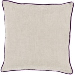 Surya Throw Pillow Linen Tan Solid Red Piping lp007