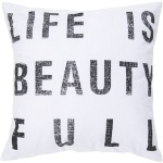 Surya pillow typography