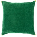 Green Velvet Solid Throw Pillow Surya vp006