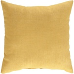 gold yellow solid throw pillow surya zz412