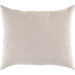 Surya Solid Throw Pillow Natural White zz413