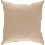 Surya Solid Tan Pillow zz428