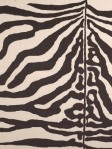 Zebra Print Black White Animal Fabric Upholstery Scalamandre 16366-001