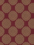 Fabricut Fabric Red Medallions Bravados Ruby 2985304
