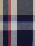 Duralee Plaid Fabric Blue Red White Tan 32647-73
