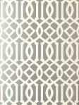 Schumacher Imperial Trellis Wallpaper Silver 5003362