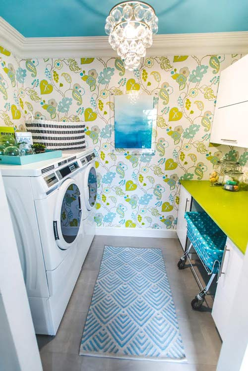 Well Designed Laundry Room Glamorous Wallpaper by Christine Gentile