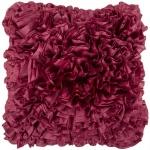 Surya Textured Pink Purple Throw Pillow Ruffles  bb030