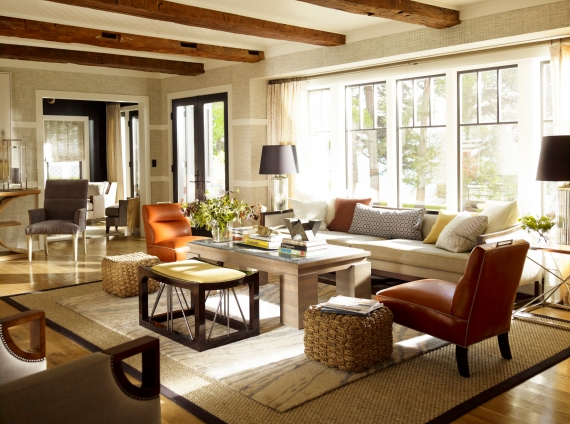 Thom Filicia Living Room Interior Decor Neutral Home