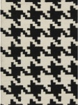 Black White Houndstooth Area Rug Surya ft18-23