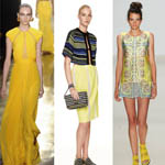 New York Fashion Week Color of the Moment Yellow