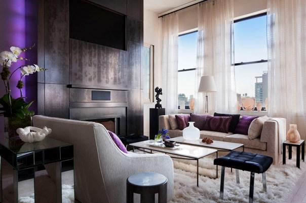 purple plum lavendar living room interior decor by campion platt