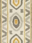 Thom Filicia for Kravet Fabric Ikat Grey Yellow Ethnic PROSPECT_814_0