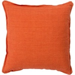 Surya Orange Throw Pillow Solid   sl003