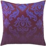 Plum purple damask throw pillow interior decor surya sy013