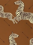 Scalamandre Zebras Wallpaper Safari Brown WP81388M-003