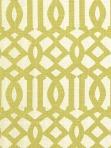 Schumacher Fabric, Imperial Trellis - Citrine / Ivory