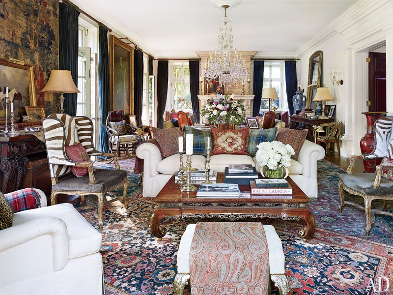 How to Get the Look of Ralph Lauren\'s Rustic-Chic Bedford Home ...