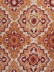 Jaipur Area Rug CAT18-Rectangle Medallion Orange/Red Rug