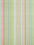 Ticking Stripe Area Rug Ana Aqua Cotton Woven Dash & Albert  RDA076